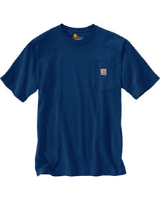 Carhartt Men's Workwear Pocket T-Shirt, Dark Blue, hi-res