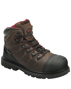 Avenger Men's Hammer Waterproof Work Boots - Carbon Toe, Brown, hi-res