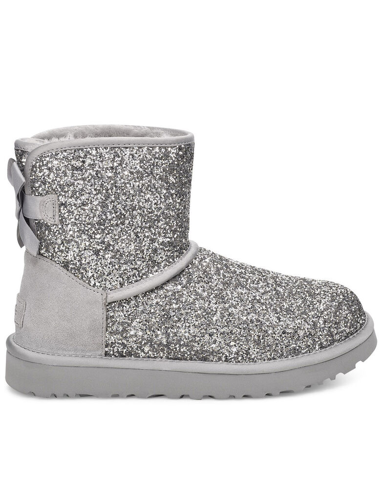 UGG Women's Mini Bow Cosmos Boots, Silver, hi-res