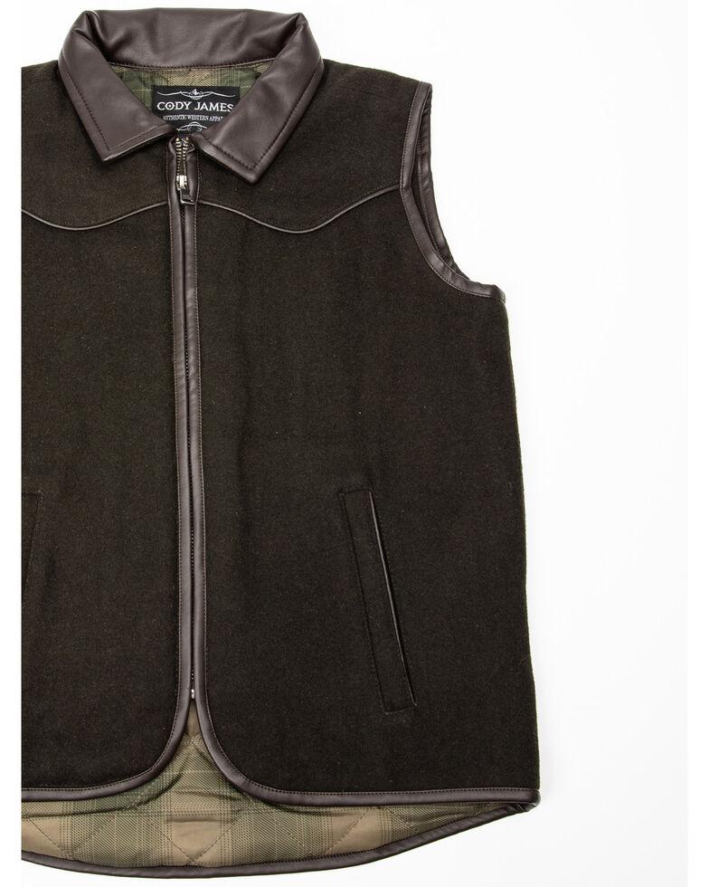 Cody James Boys' Western Wool Vest , Olive, hi-res