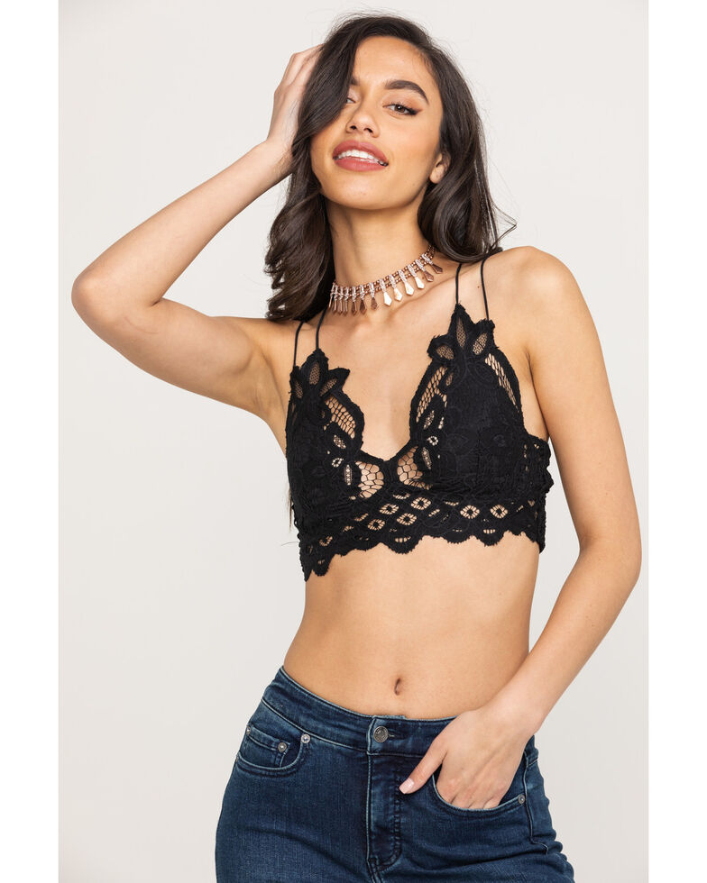Free People Women's Adella Bralette, Black, hi-res