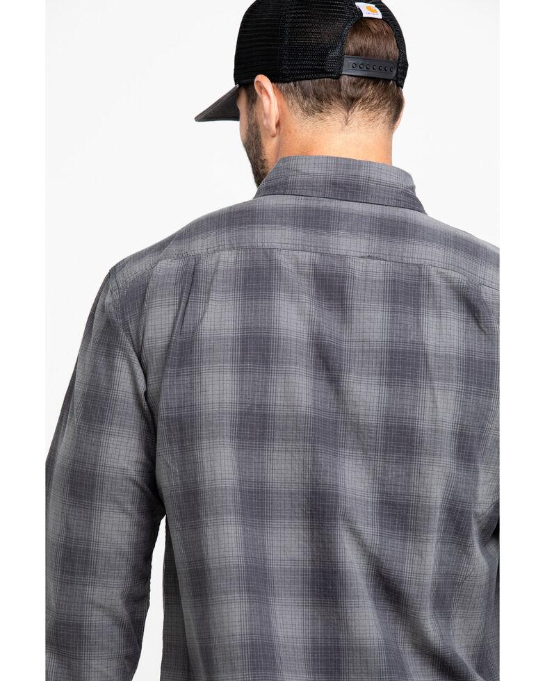 Carhartt Men's Fort Plaid Button Long Sleeve Work Shirt , Grey, hi-res