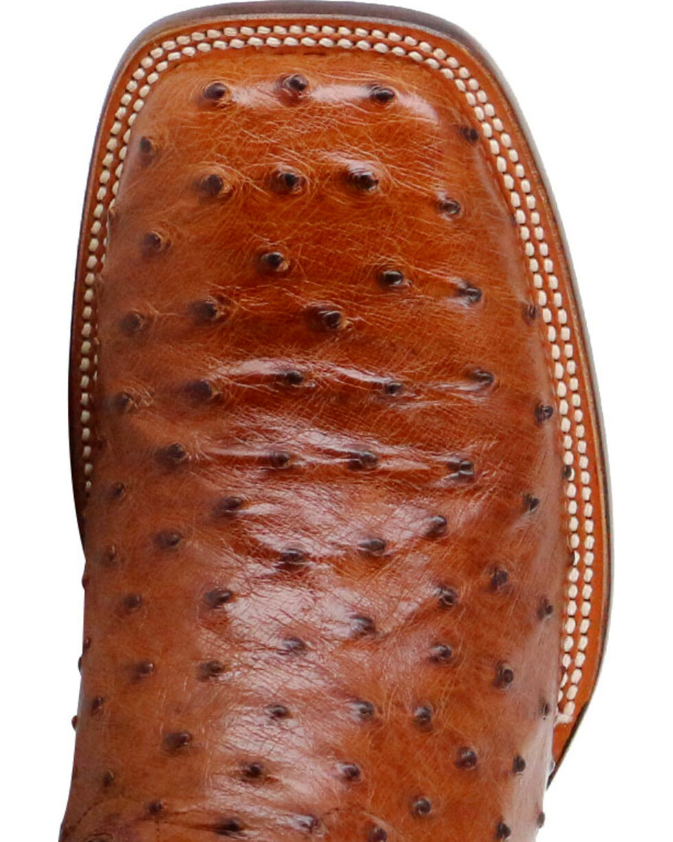 Cody James® Men's Full Quill Ostrich Exotic Boots, Brown, hi-res