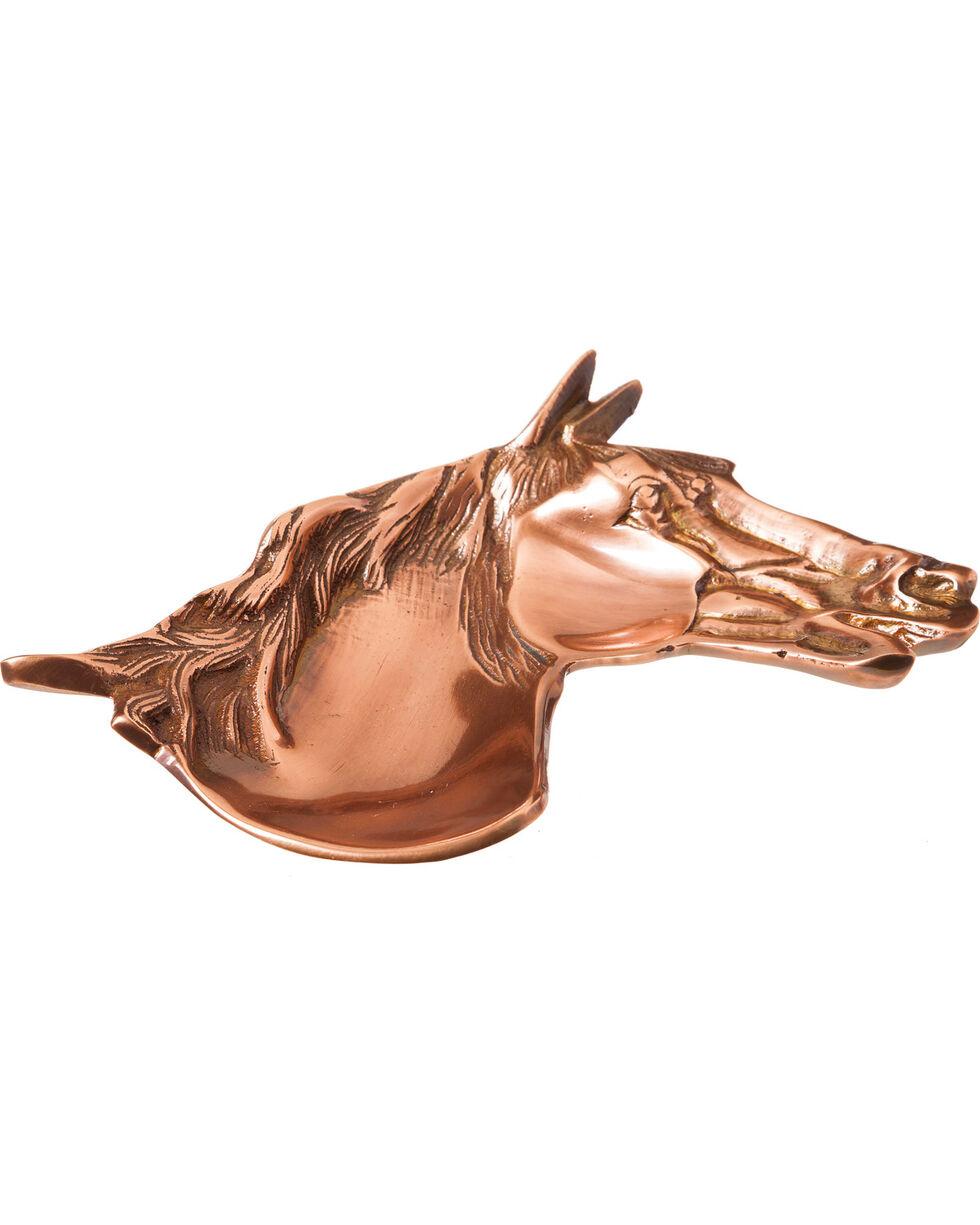 Evergreen Copper Horse Trinket Dish , Rust Copper, hi-res