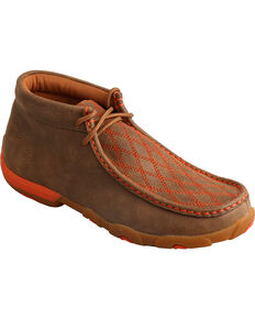 Twisted X Women's Embroidered Driving Mocs, Brown, hi-res