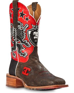 Cinch Men's Leon Western Boots, Black, hi-res