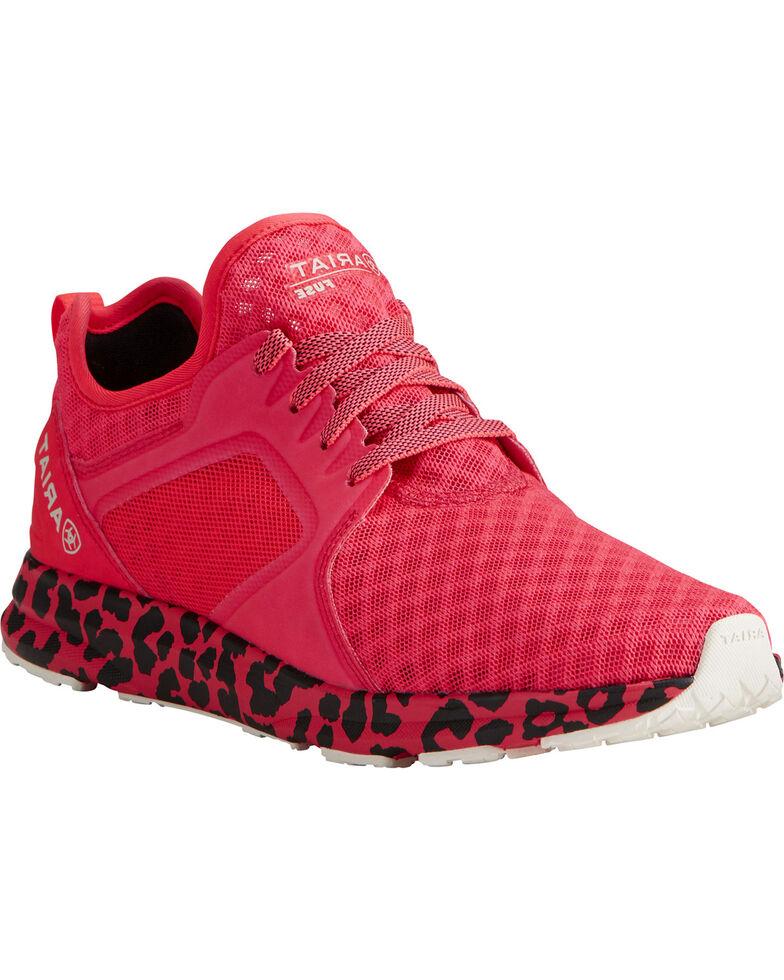 Ariat Women's Fuse Neon Mesh Sneakers, Pink, hi-res