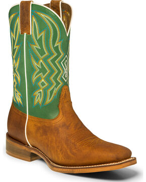 "Nocona Men's 11"" Square Toe Western Boots, Tan, hi-res"