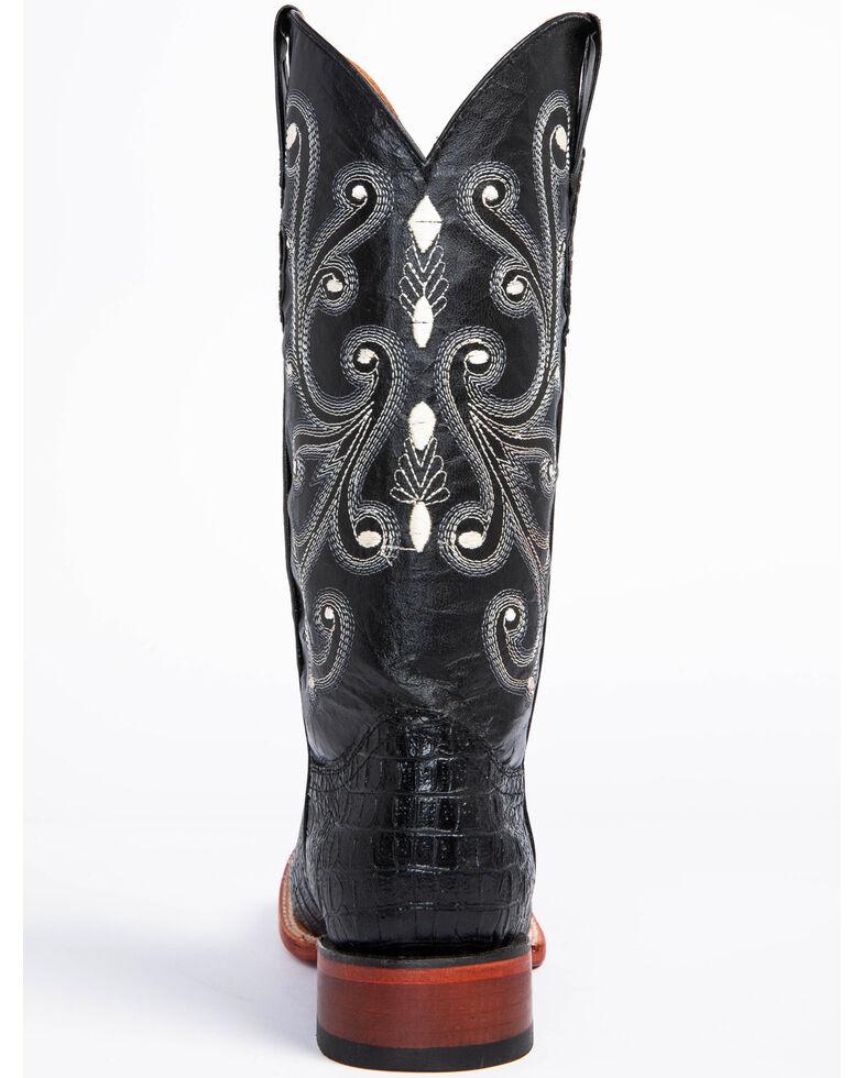 Ferrini Men's Caiman Crocodile Print Western Boots, Black, hi-res