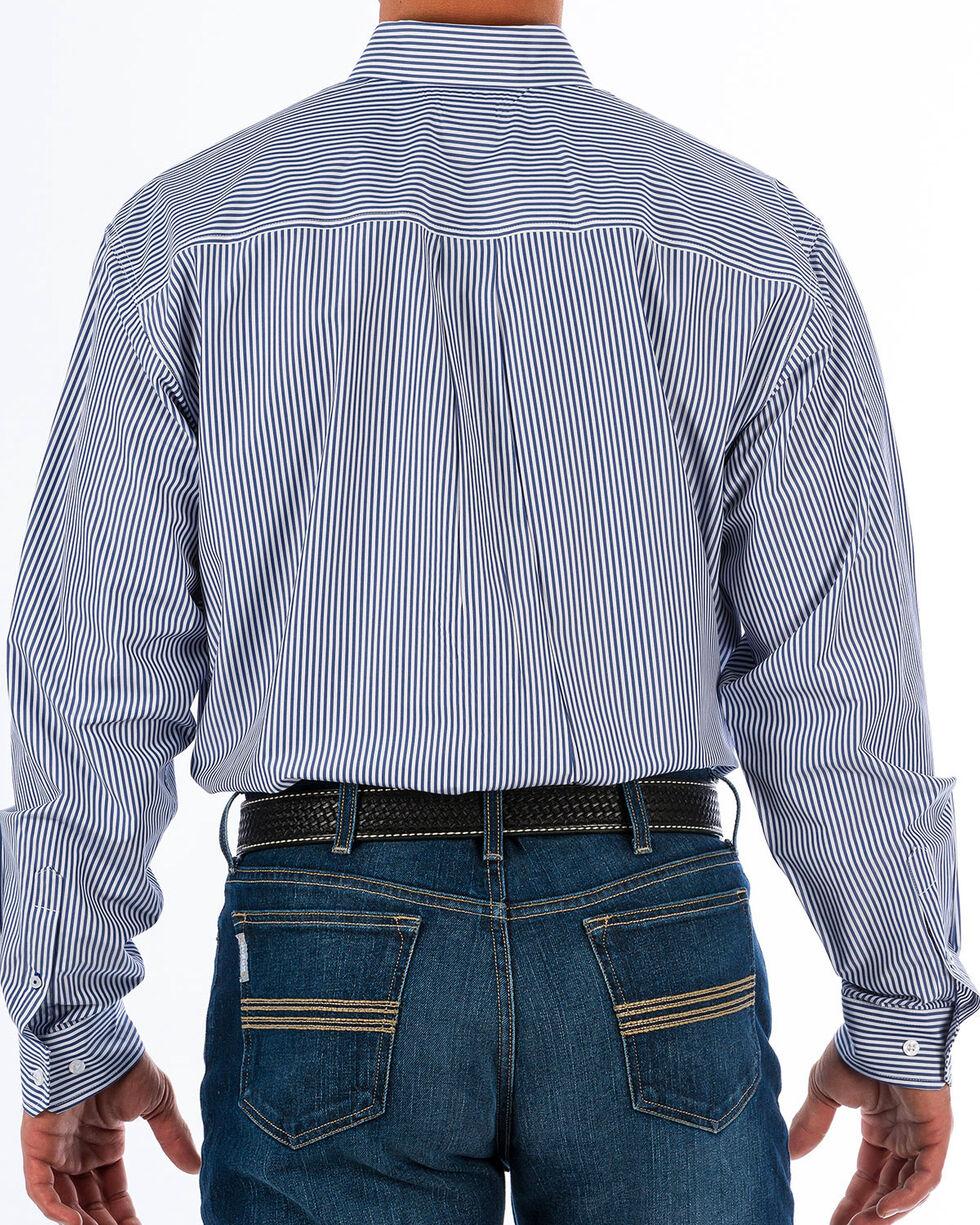 Cinch Men's Royal Blue Striped Western Shirt - Big & Tall, Royal Blue, hi-res