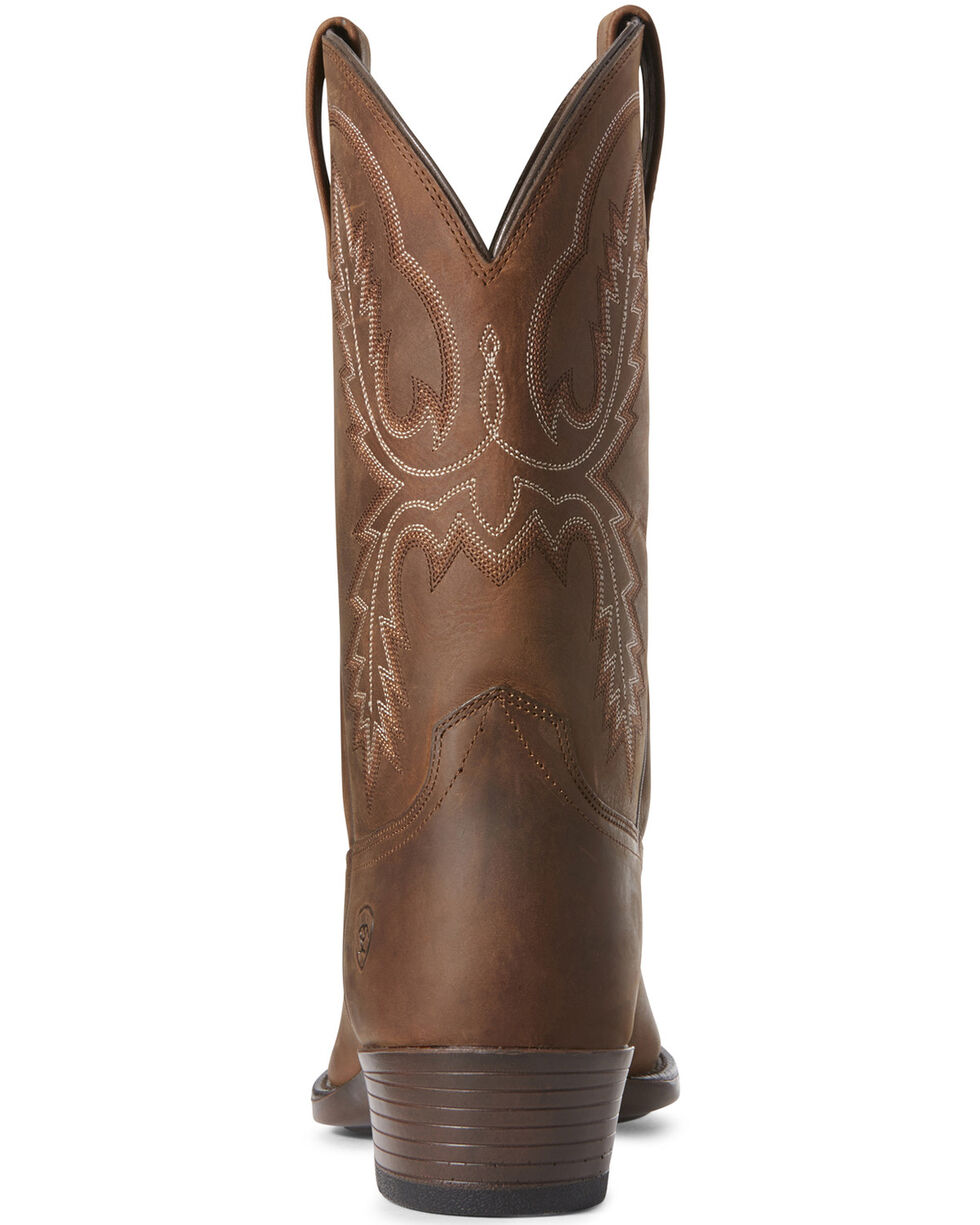 Ariat Men's Bar Sour Distressed Western Boots - Round Toe, Brown, hi-res