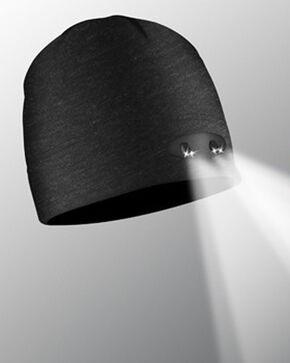 Panther Vision Men's Black Headlamp Beanie , Black, hi-res
