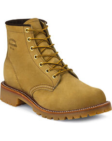 """Chippewa Men's 6"""" Lace-Up Golden Apache Lugged Work Boots, Tan, hi-res"""