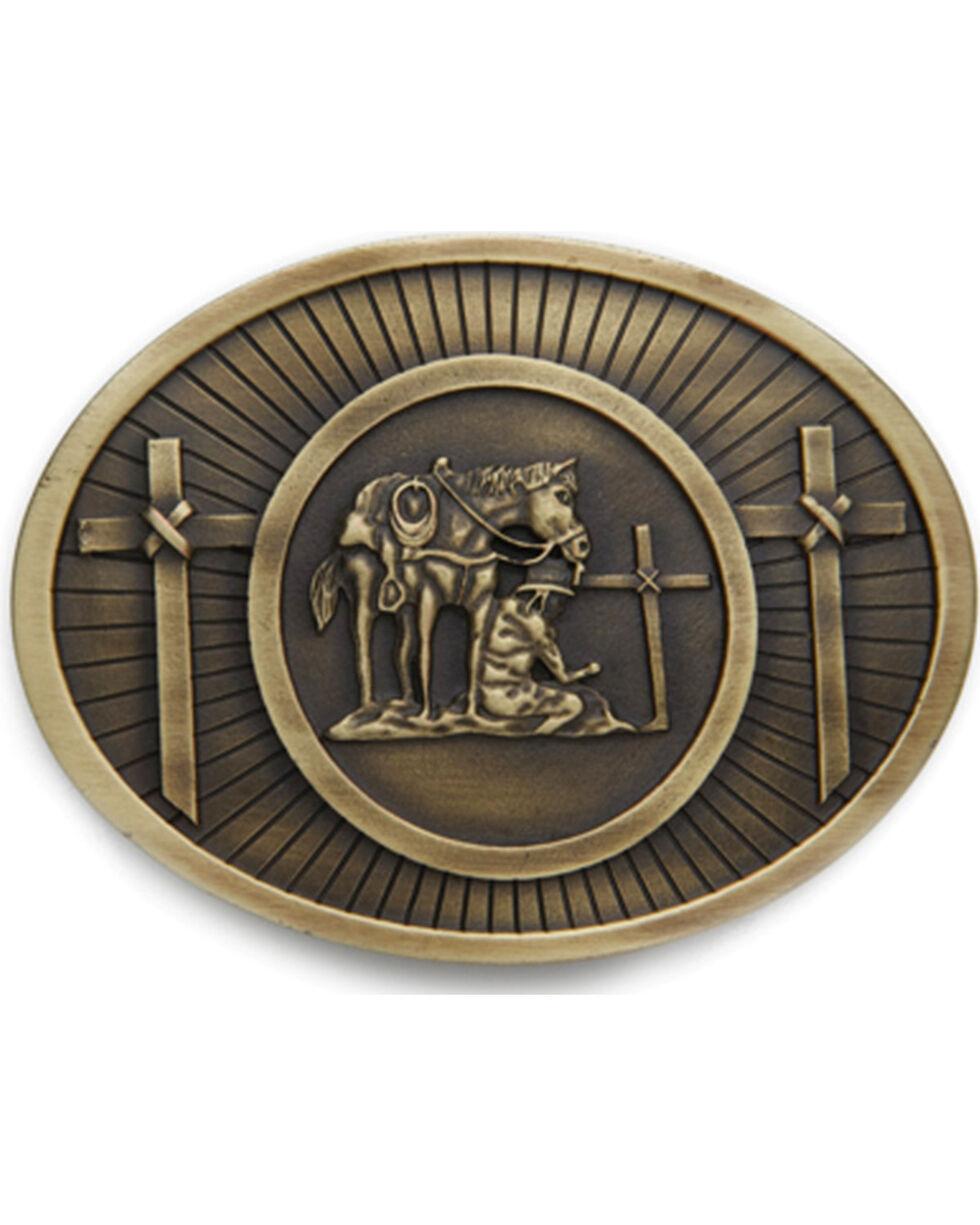 Cody James® Men's Christian Cowboy Belt Buckle, Brass, hi-res