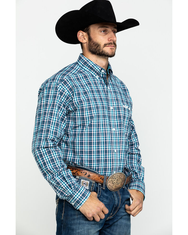 Ariat Men's Influence Multi Plaid Long Sleeve Western Shirt  , Multi, hi-res