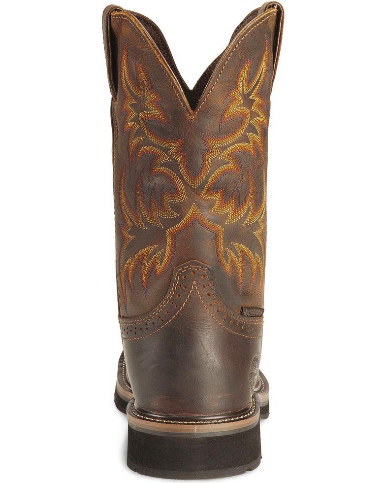 Justin Men's Stampede Tan Waterproof Work Boots, Tan, hi-res