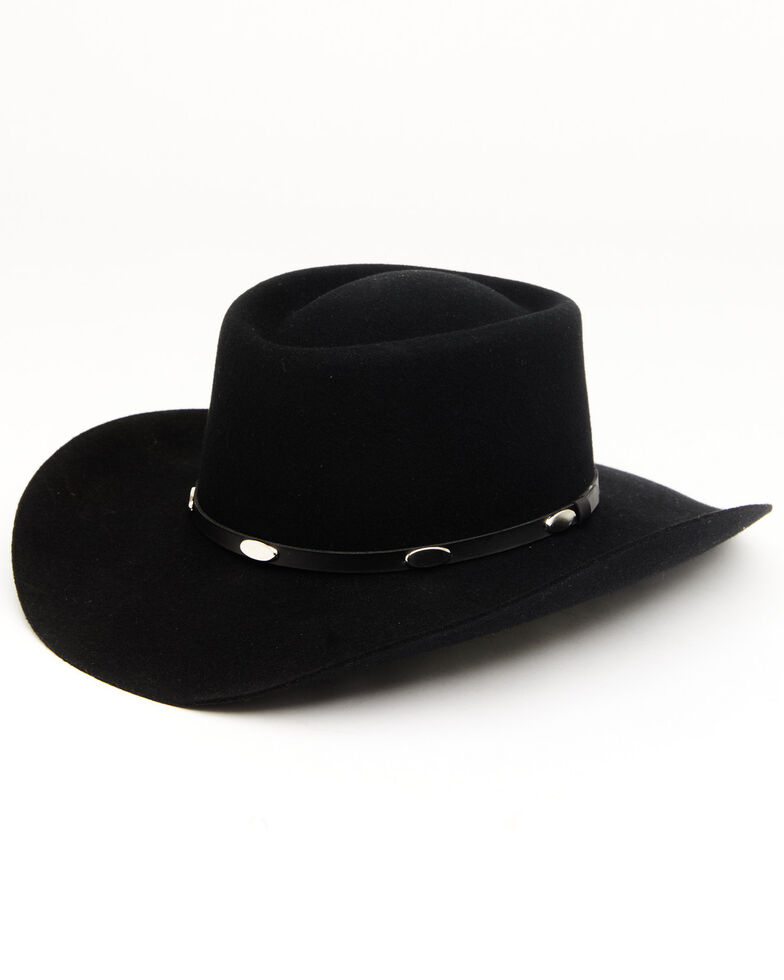 Cody James Men's 3X Black Gambler Western Wool Hat, Black, hi-res