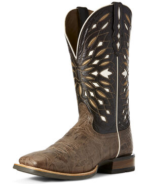 Ariat Men's Rodeo Ready Western Boots - Square Toe, Dark Brown, hi-res