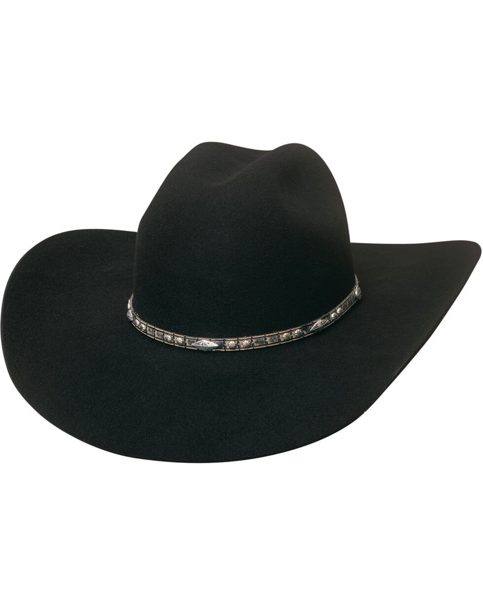 Bullhide Men's 4X Big Augur Wool Felt Cowboy Hat , Black, hi-res