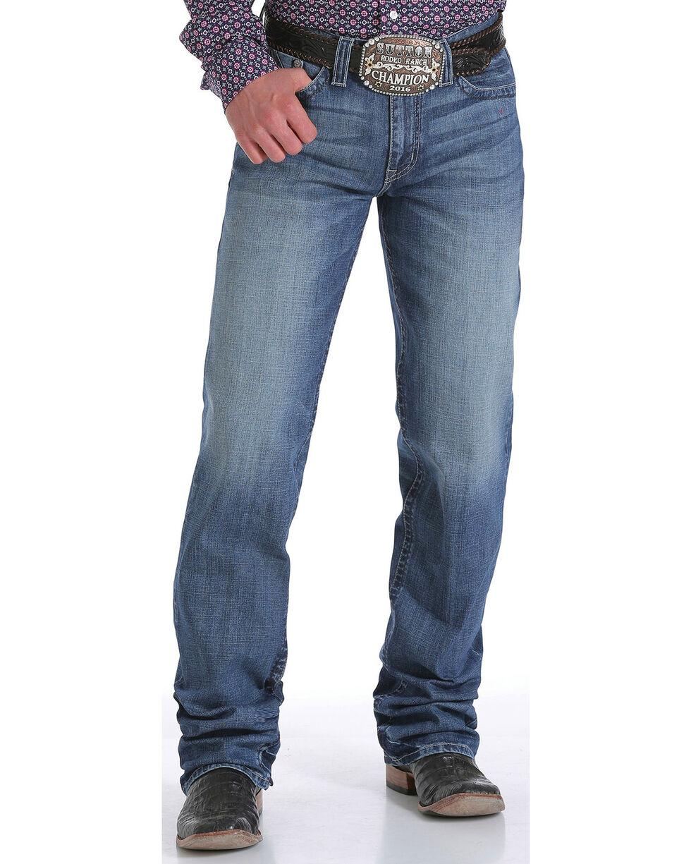 Cinch Men's Medium Wash Boot Cut Jeans, Indigo, hi-res