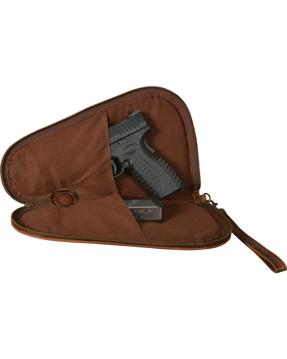 STS Ranchwear Foreman Pistol Case - Large, Brown, hi-res