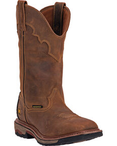 Dan Post Men's Blayde Waterproof Pull On Work Boots, Saddle Tan, hi-res