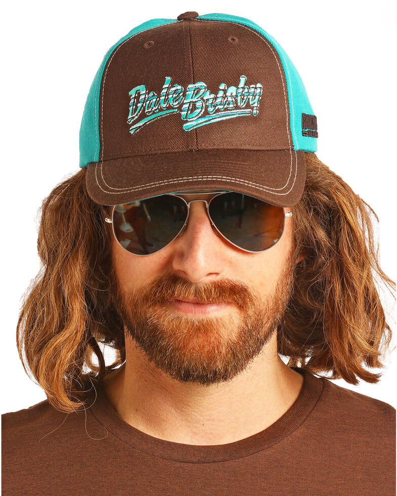 Dale Brisby Men's Two-Tone Signature Embroidered Cap, Chocolate, hi-res
