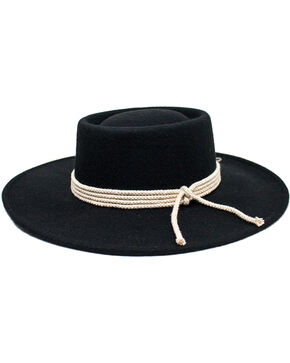 Peter Grimm Unisex Italy Wool Felt Hat, Black, hi-res