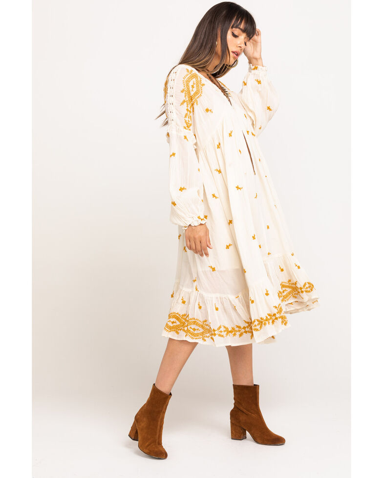 Free People Women's Lavender Fields Midi Dress, Cream, hi-res