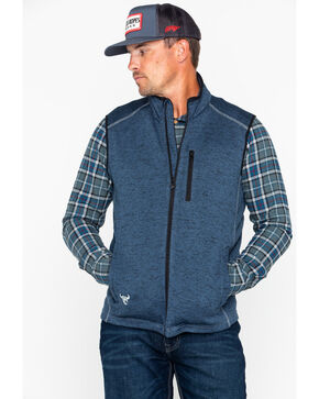 Cowboy Hardware Men's Simple Speckle Vest , Navy, hi-res