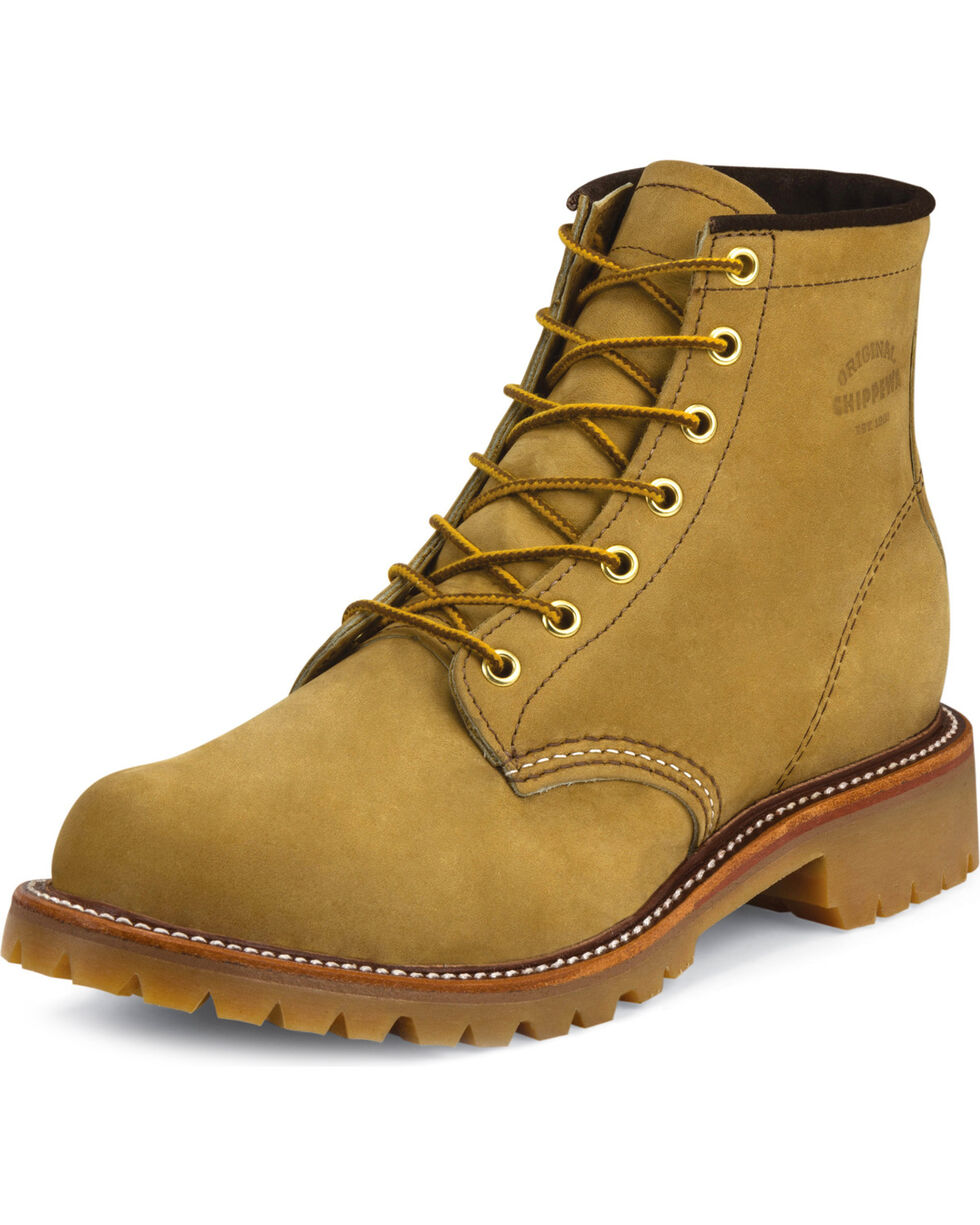 "Chippewa Men's 6"" Lace-Up Golden Apache Lugged Work Boots, Tan, hi-res"
