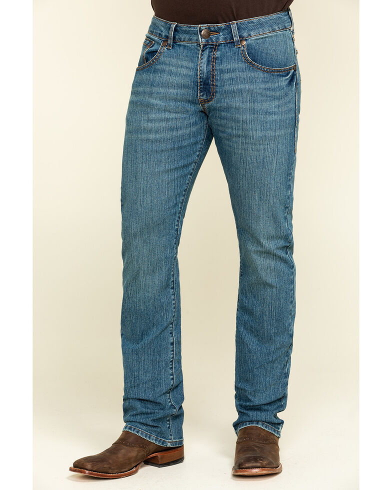 Rock 47 by Wrangler Men's Beat Stretch Slim Straight Jeans , , hi-res