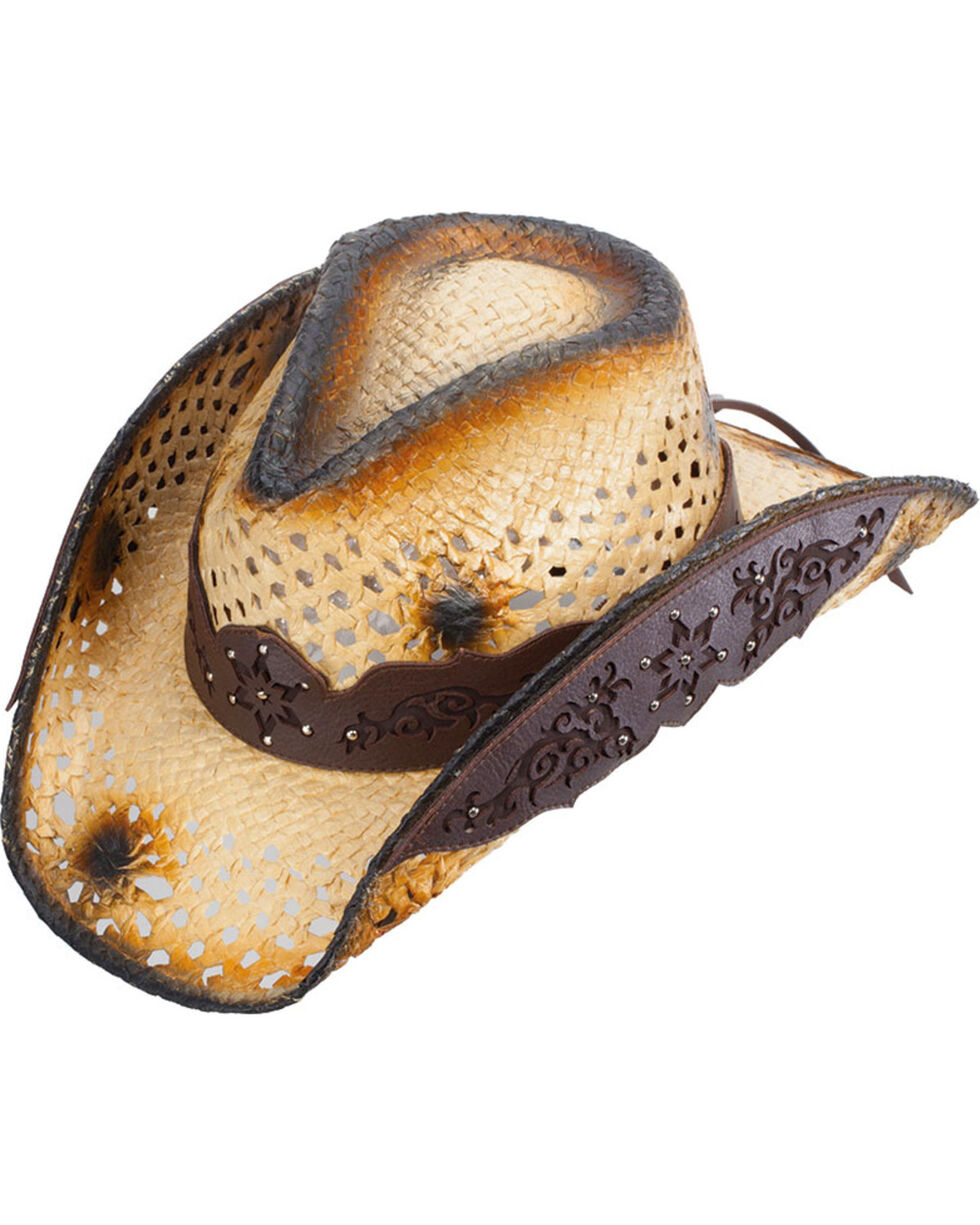 Western Express Women's Tan Broadmare Straw Hat , Tan, hi-res
