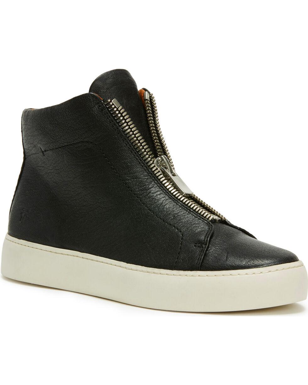 Frye Women's Black Lena Zip High Shoes - Round Toe, Black, hi-res