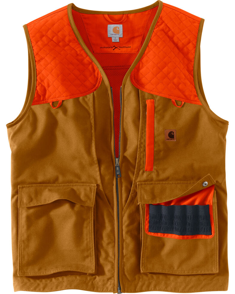 Carhartt Men's Upland Hunting Field Work Vest, Pecan, hi-res