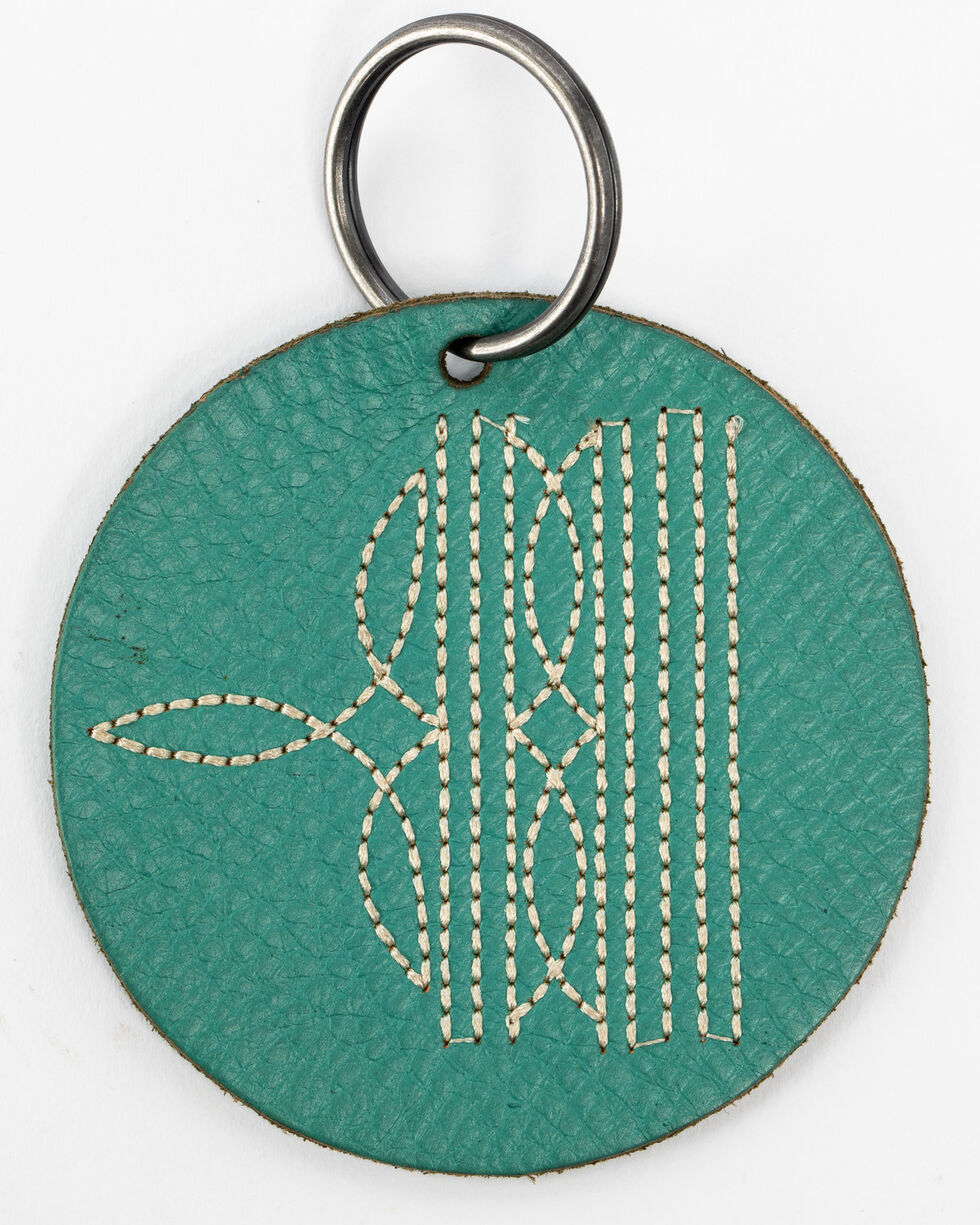 Shyanne Turquoise Toebug Round Leather Key Chain , Turquoise, hi-res