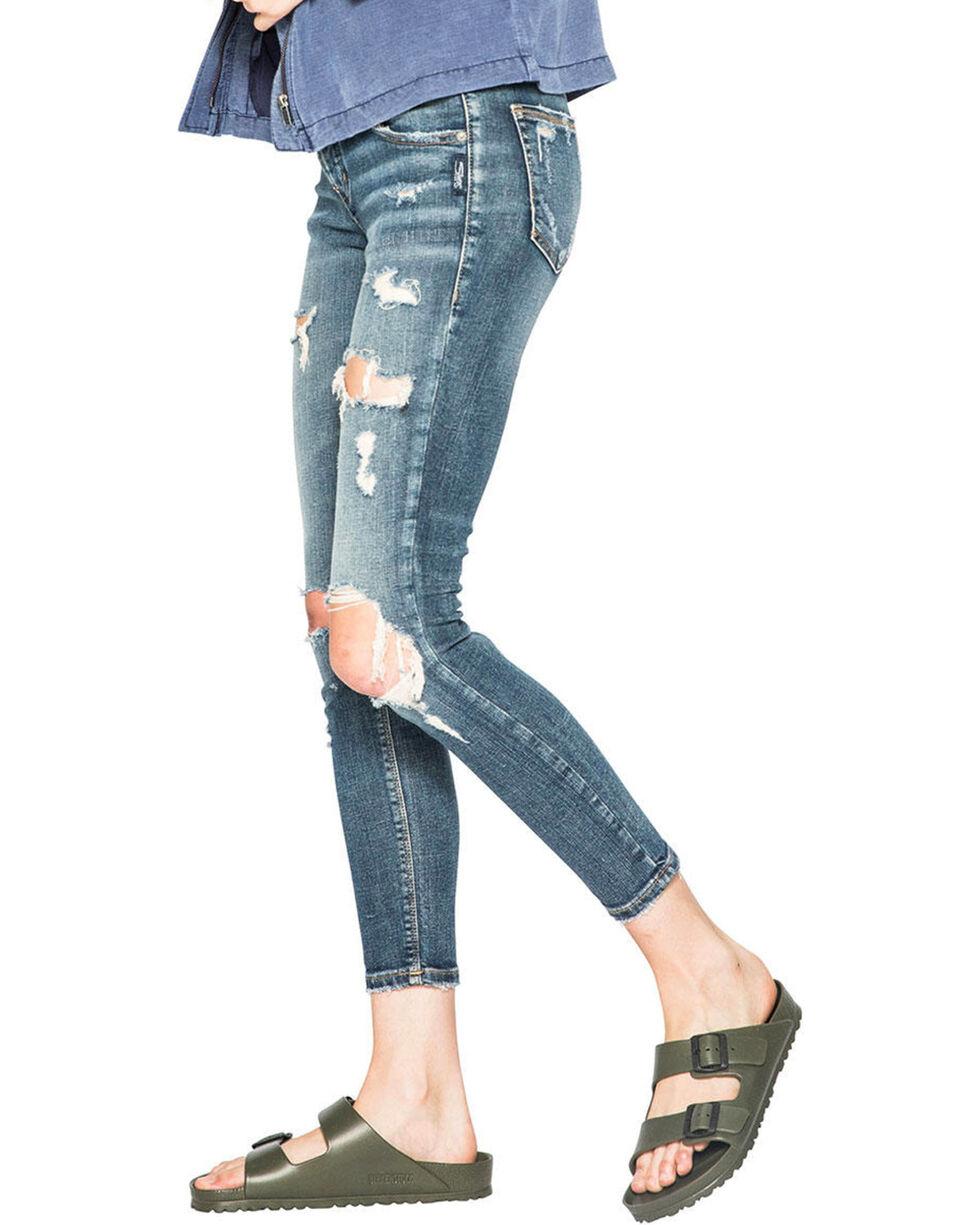Silver Women's Kenni Medium Wash Slim Boyfriend Jeans, Indigo, hi-res