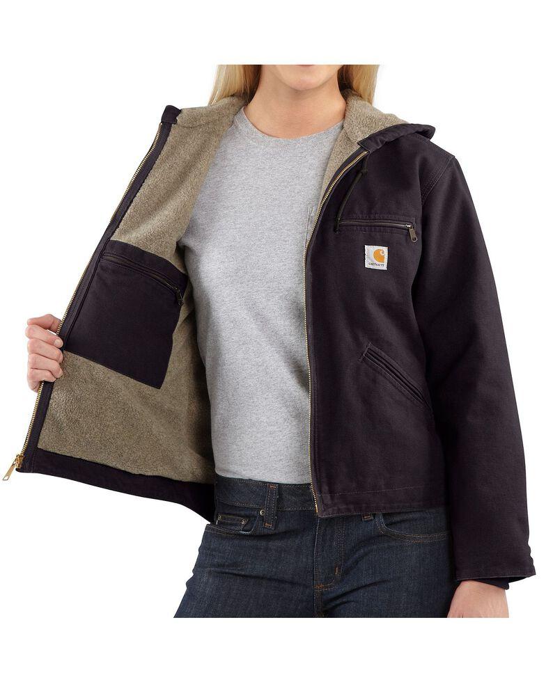 Carhartt Women's Sandstone Sierra Sherpa Lined Jacket, Wine, hi-res