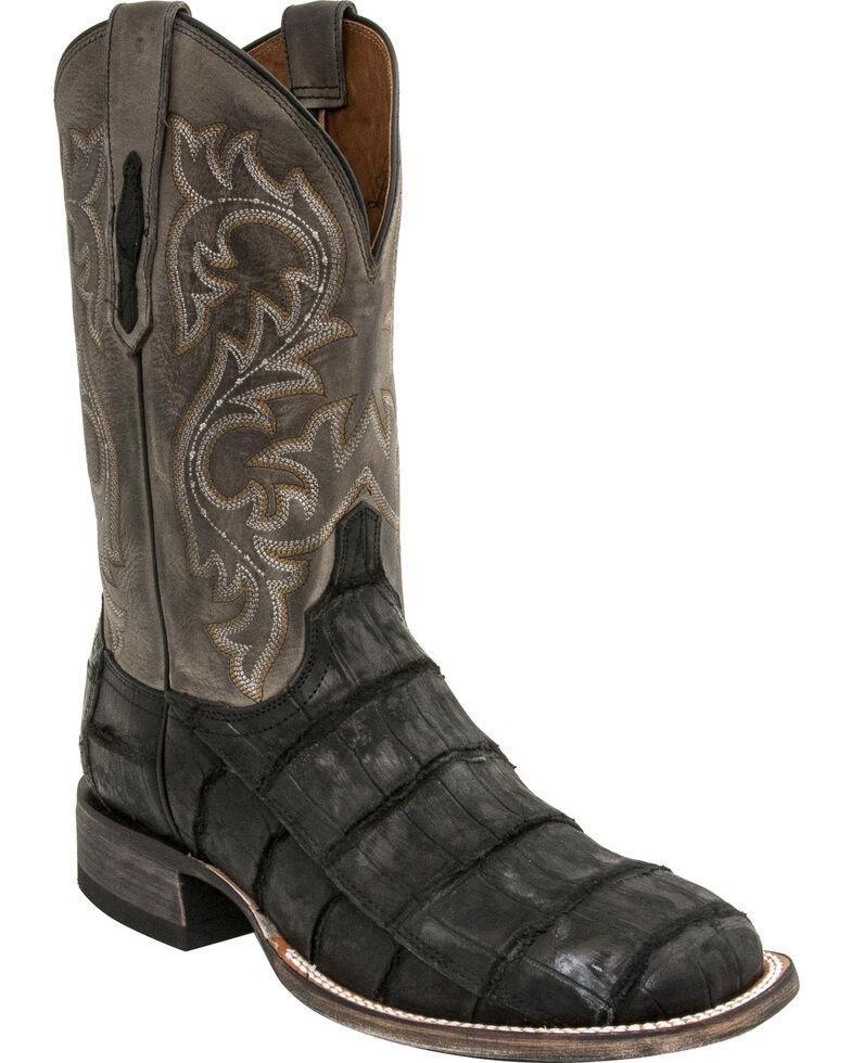 Lucchese Men's Malcolm Alligator Exotic Boots, Black, hi-res