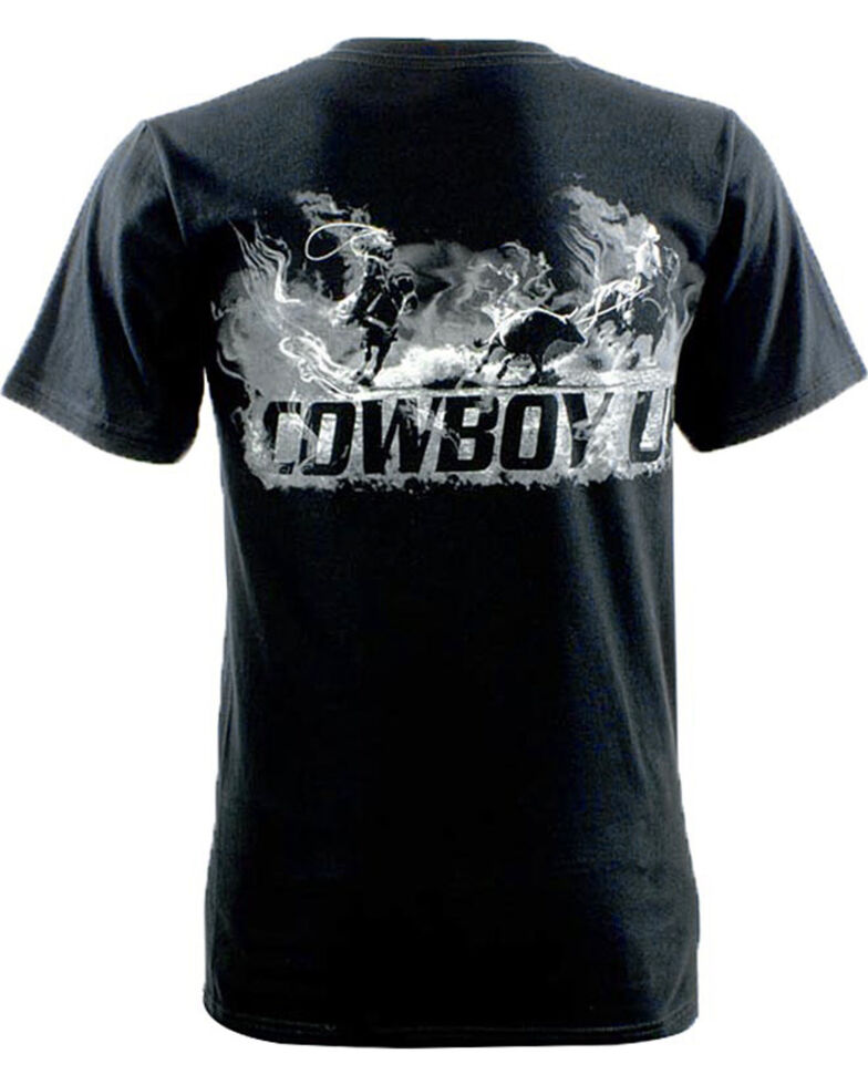 Cowboy Up Men's Team Roper Graphic Tee, Black, hi-res