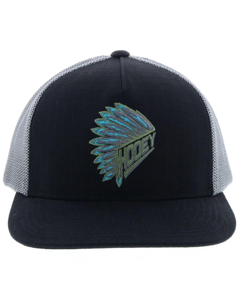 HOOey Men's Quanah Trucker Cap, Black, hi-res