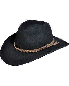 Wind River by Bailey Switchback Black Outback Hat, Black, hi-res