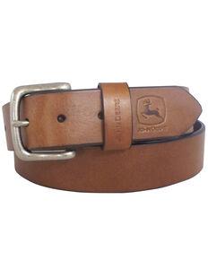 John Deere Men's Oil Tan Bridle Leather Belt, Brown, hi-res