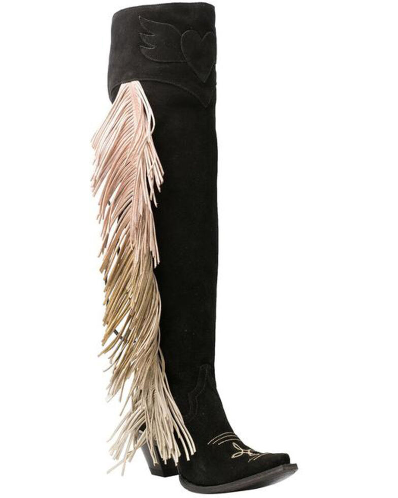 Junk Gypsy by Lane Women's Spirit Animal Western Boots - Snip Toe, Black, hi-res