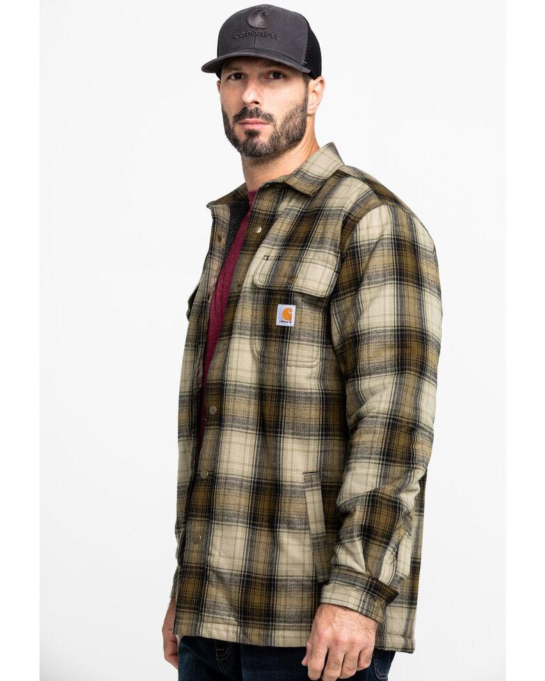 Carhartt Men's Hubbard Flannel Long Sleeve Work Shirt Jacket , Olive, hi-res