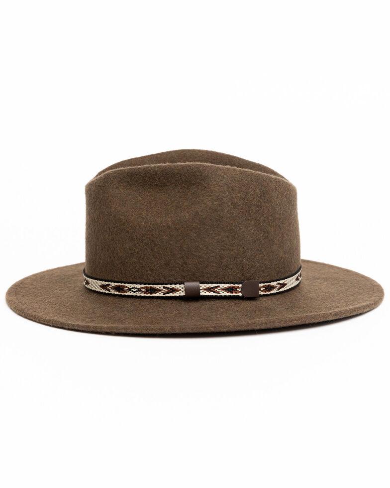 Cody James Men's Heather Loden Santa Fe Western Wool Hat , Olive, hi-res