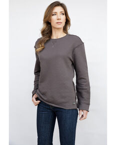 Kimes Ranch Women's Charcoal Lucy Crew, Charcoal, hi-res