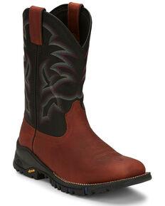 Tony Lama Men's Roustabout Brick Western Boots - Wide Square Toe, Cognac, hi-res