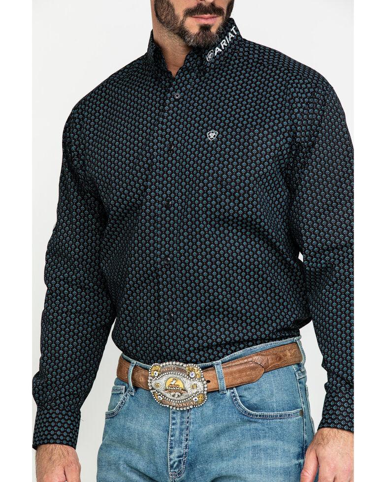Ariat Men's Bradley Logo Geo Print Long Sleeve Western Shirt - Tall , Multi, hi-res