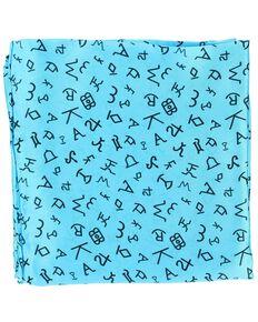Branding Design Silk Wild Rag, Turquoise, hi-res